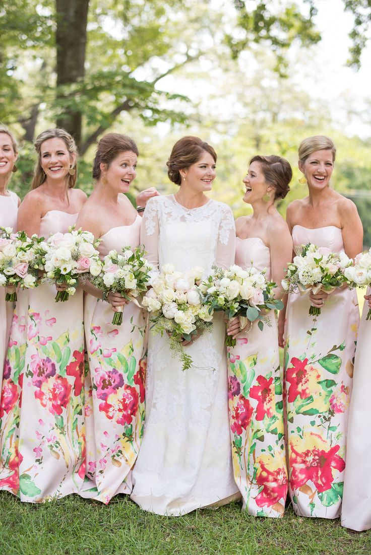 5687 best bridesmaid style images on pinterest bridesmaids floral printed bridesmaids dresses done the right way photography eliza morrill ombrellifo Gallery