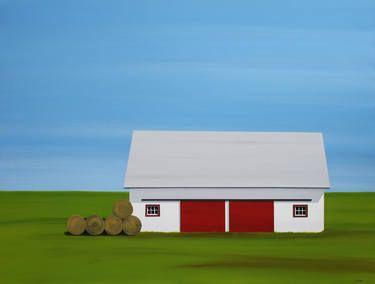 """Saatchi Art Artist Francis Lipari; Painting, """"Caroline's Barn"""" #art"""
