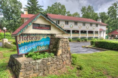Hofbrau Riverfront Hotel Helen (Georgia) Hofbrau Riverfront Hotel is set in Helen, 1.8 km from Anna Ruby Falls and 5 minutes' walk from Helen city centre. Free WiFi is featured and free private parking is available on site. Continental breakfast is included with every room.