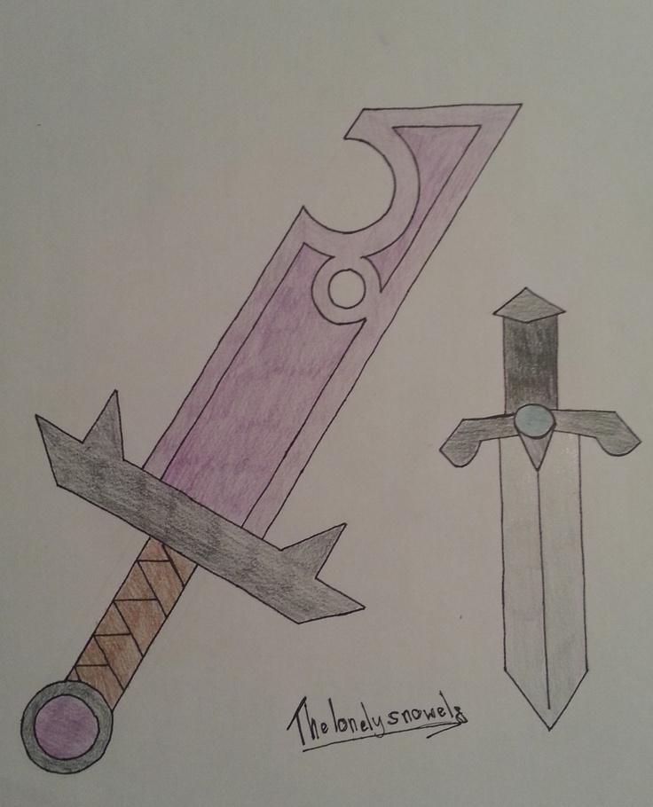 Some purple sword and Enderbane♥