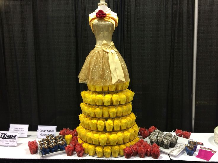 Beauty and the Beast inspired Belle Princess cupcakes for a birthday party  Disney inspired by the Cake Guru