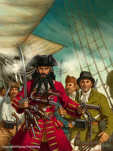 Edward Teach (c. 1680 – 22 November 1718), better known as Blackbeard, was a notorious English pirate who operated around the West Indies and the eastern coast of the American colonies. Contrary to the modern-day picture of the traditional tyrannical pirate, he commanded his vessels with the permission of their crews and there is no known account of his ever having harmed or murdered those he held captive.