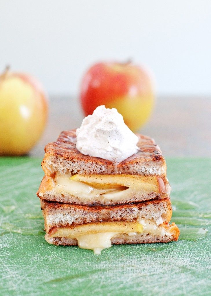 Apple & Brie Stuffed French Toast - this was the best french toast i've ever had.  no hyperbole needed!