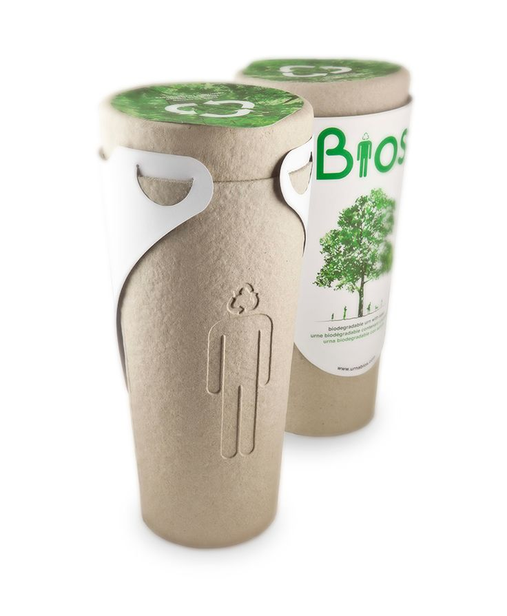 The Urn is 100% biodegradable, made of coconut shell, compacted peat and cellulose. It has two parts – a top capsule for the seed, and a bottom part for the ashes. This structure allows the seed to germinate separated from the ashes and their high acidity. Once the urn starts to biodegrade, the seed roots are already strong enough to contact them and the entire set becomes part of the sub-soil. #death #innovation #disruption #sustainable #tree #green