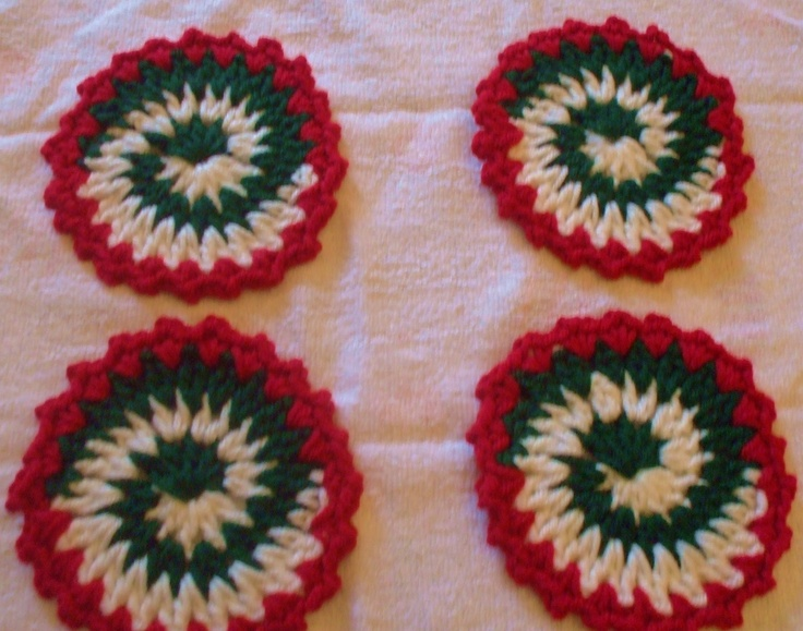my Pinwheel Christmas costers