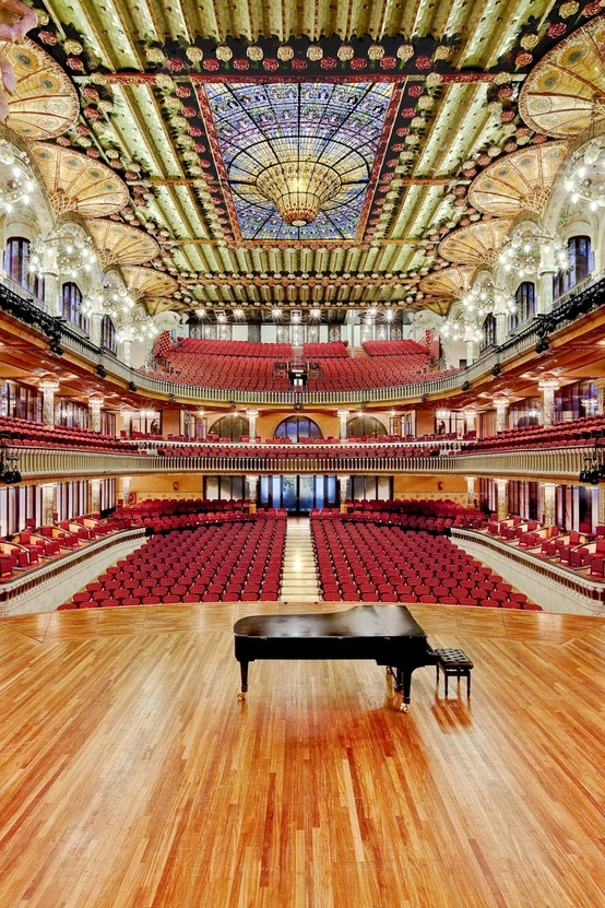 Palau de la Música Catalana concert hall - Barcelona, Catalonia - UNESCO World Heritage Site.