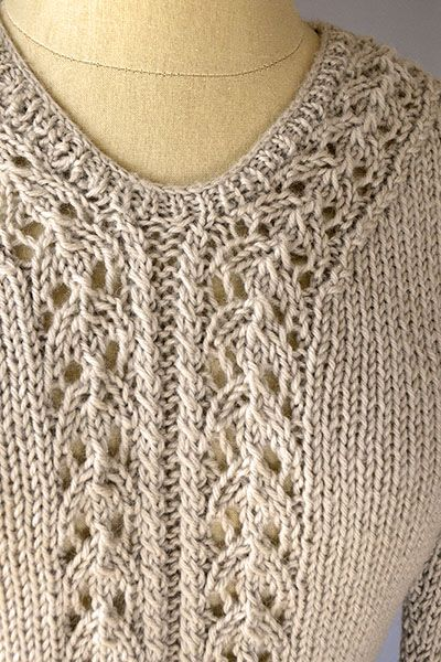 Interlacement Sweater Free Knitting Pattern