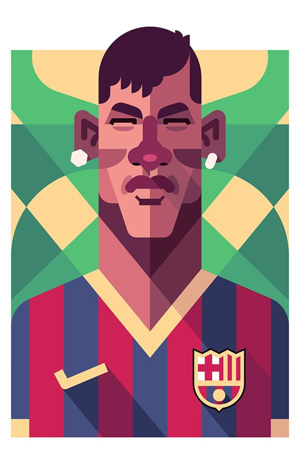 Football Players by Daniel Nyari, via Behance
