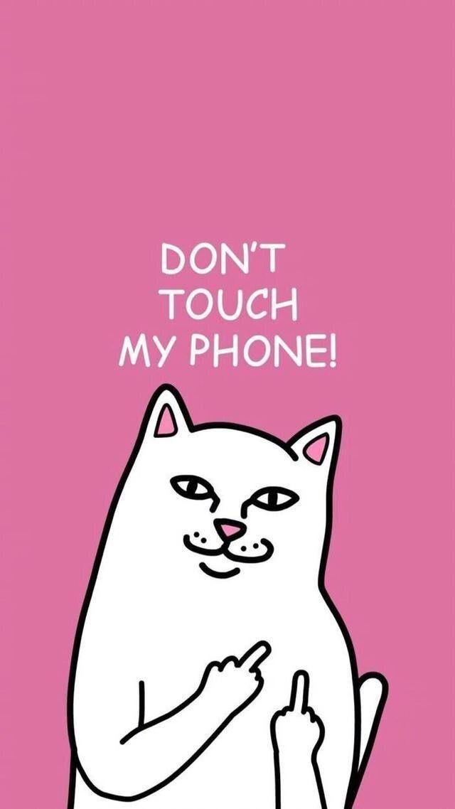 Iphone Lock Sreen Fonds D Ecran Hd Depuis Uploaded By User Funny Phone Wallpaper Dont Touch My Phone Wallpapers Wallpaper Iphone Cute