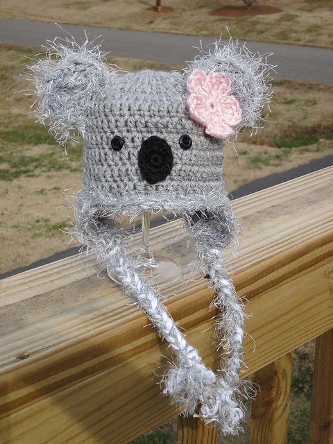 crochet koala bear hat www.facebook.com/girlsinstitches