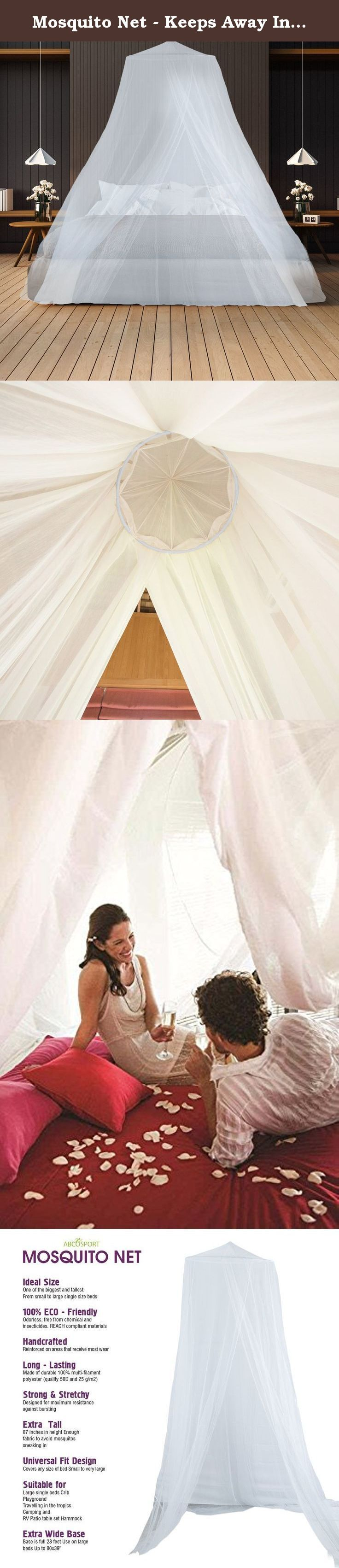 Mosquito Net - Keeps Away Insects & Flies - Perfect For Indoors And Outdoors, Playgrounds, Fits Most Size Beds, Cribs - Conical Design, Including Hanging Parts and a FREE Carry Bag To Carry Along. Are you looking for an effective mosquito protection for your bed or for a comfortable night's sleep during camping or any other travel? Are you looking for a net that has extremely small mesh size to prevent ingress of tiniest of mosquitoes, and is non-toxic, easy to use and easy to install?…