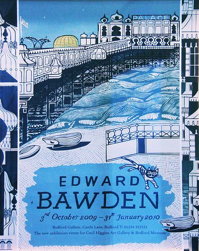 2009-2010 Palace Pier, Brighton: Exhibition Poster for the artist Edward Bawden (1903-1989)