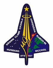 STS 107 -- Brown, Clark, Chawla, Anderson, Ramon, Husband, and McCool 2003