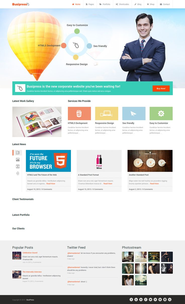 Busipress is a powerful responsive multipurpose premium WordPress theme , built on the Twitter Bootstrap Framework and WooCommerce, jam-packed with features.