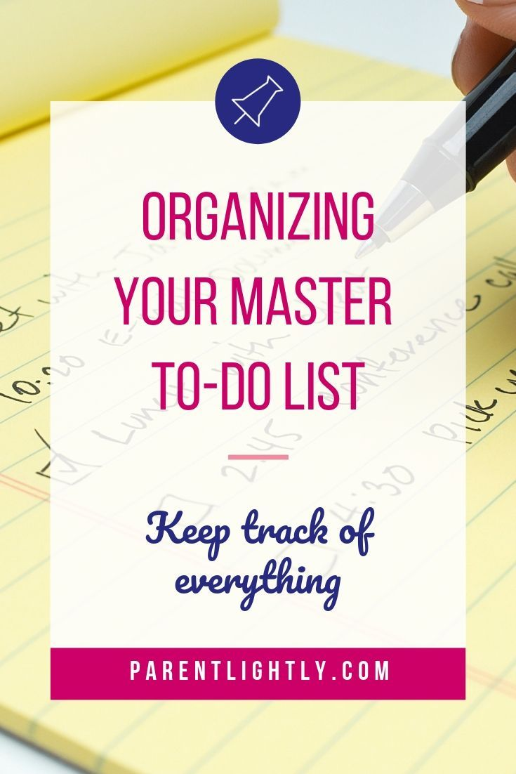 How To Make And Maintain A Master List Of Tasks With Images