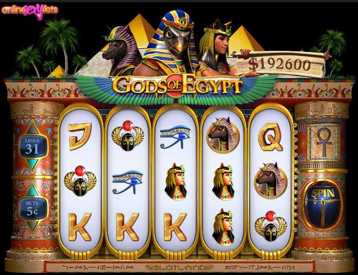 Gods of Egypt Video Slot Play At Slotland Casino With $38 Free