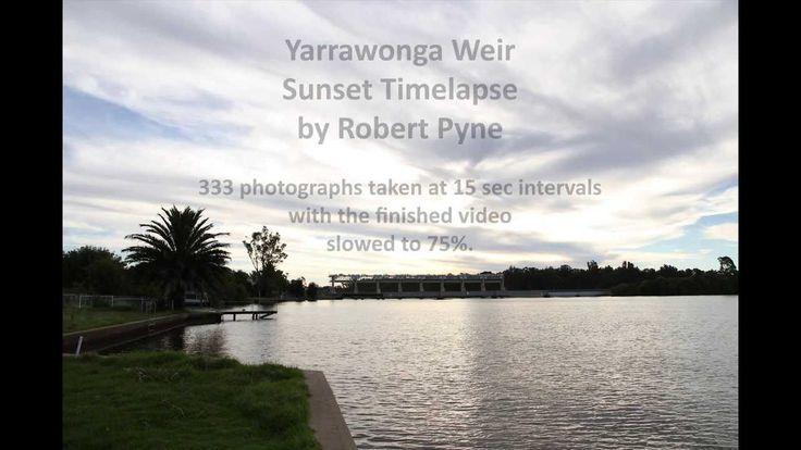 Yarrawonga Weir Sunset Timelapse
