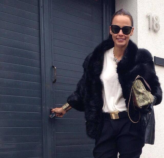 Andreea Raicu wearing Paisi #magiclove #furcoat