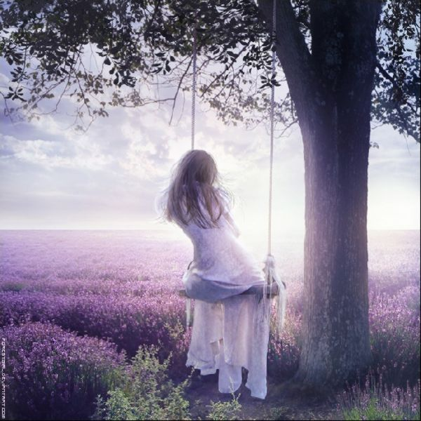 Daydreaming and swinging in a field of lavendar . . . perfect.