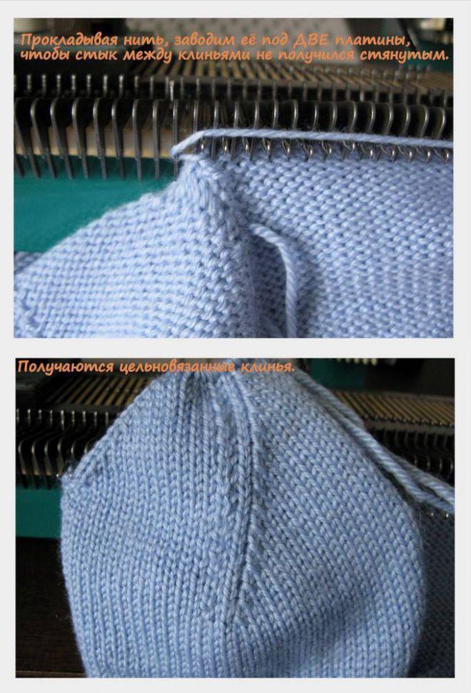 Как вязать верх шапочки, без сшивания клиньев..