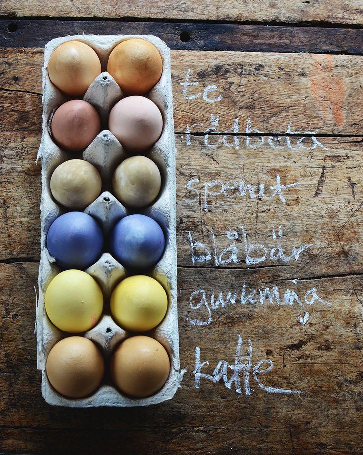 Färga ägg naturligt, påskpyssel, easter craft, dyed egg,