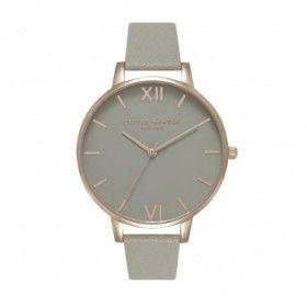 Olivia Burton Grey Dial reloj de mujer en piel.