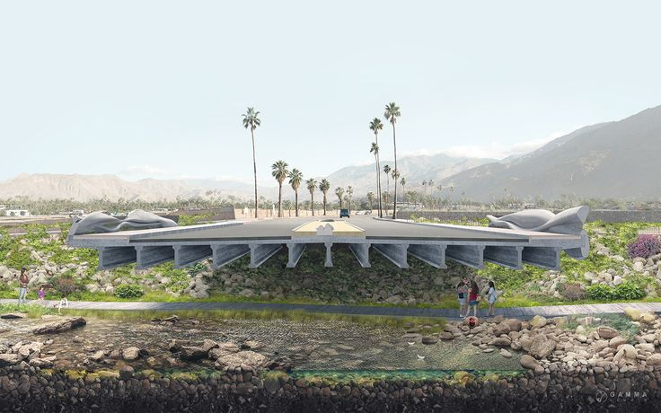 Tahquitz Creek Bridge in Palm Springs, CA, Studio AR&D Architects, Los Angeles, CA, USA