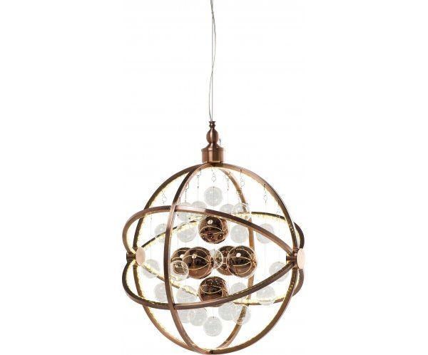 Universum Copper LED Lampa Wisząca Stal Nierdzewna Szkło - 1