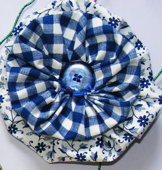I have found that making yo-yo's fills my insatiable desire for more and more fabric!  Once I started making them, I use this to use up scrap fabrics leftover from sewing projects and I don't go buy fabric all the time that I don't really need!  Therapy...LOL...