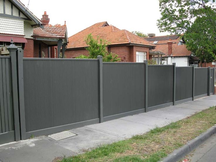 Decoration, Ripples Corrugated Metal Fence Decoration: How To Design Corrugated Metal Fence