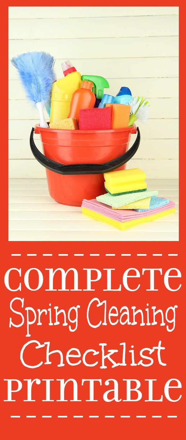 The Complete Spring Cleaning Checklist