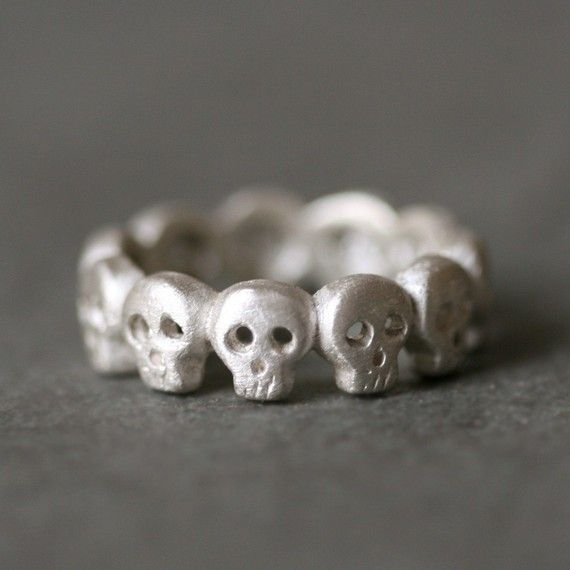 Gothic Hand Holding Flower Rose Silver Ring Size US 3  by yhtanaff, $29.00