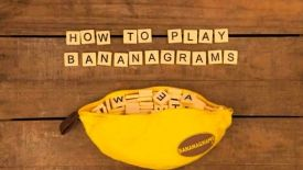 One of my favorite games EVER -- Bananagrams!