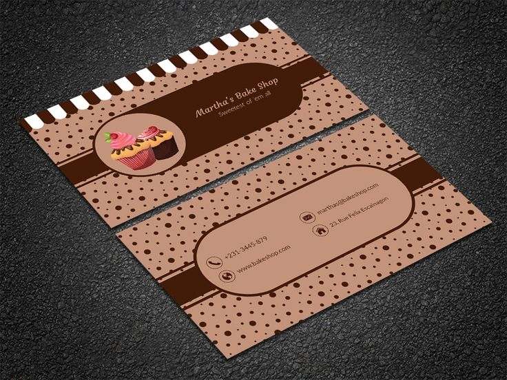 35 best free professional business card edit online and download free desert bakery business card reheart Gallery