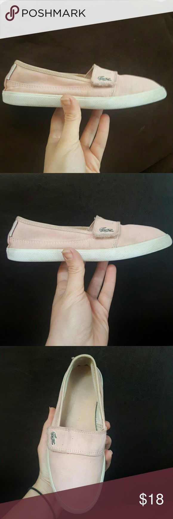 SALE LACOSTE KIDS SIZE 2 GIRLS SNEAKERS VELCRO LACOSTE GUC  The cuttest little shoes!  Light pink amazing slip on sneakers Uk 1 eur 33 usa 2 Maurice Lacoste Shoes Sneakers