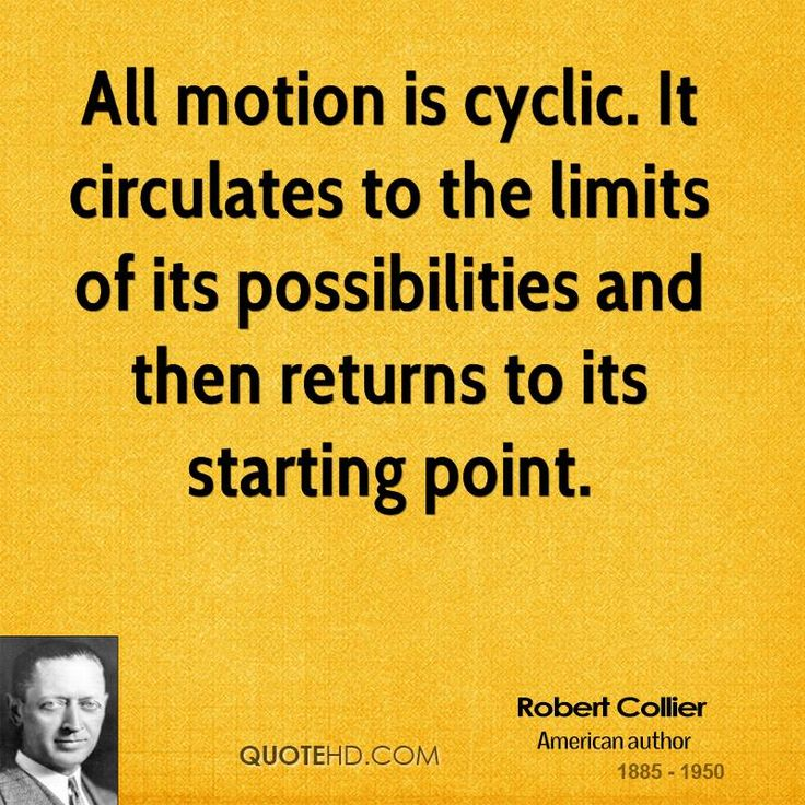 More+Robert+Collier+Quotes+on+www.quotehd.com+-+#quotes+#cyclic+#limits+#motion+#point+#possibilities+#returns+#starting