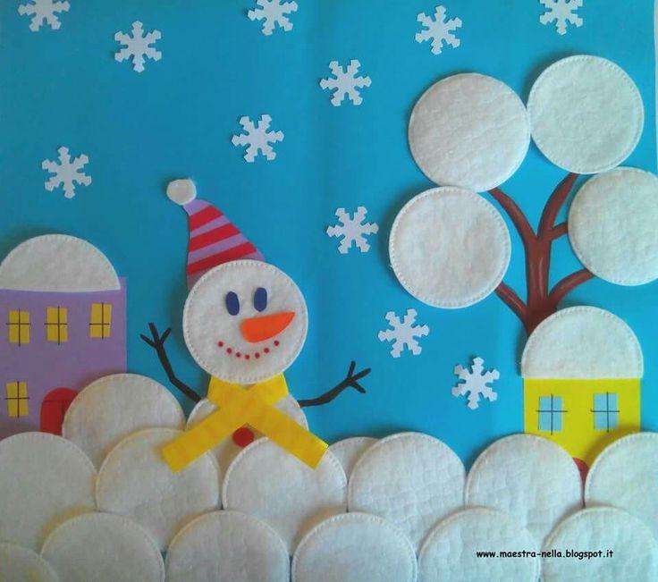 * Winter! Sneeuwpop in de sneeuw!