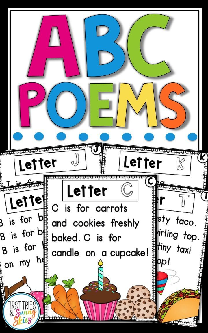 Alphabet Poems Letter of the Week Poems Teaching