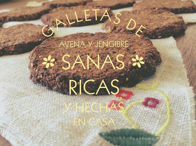 CON SABOR Y SALUD: Galletas de Avena y Jengibre
