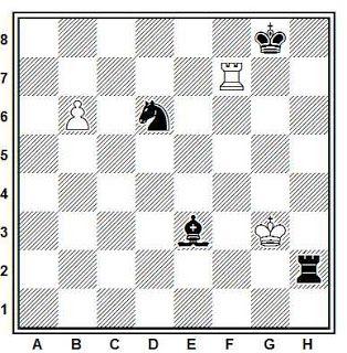 Problema ejercicio de ajedrez número 1446: Estudio de H. M. Matisson (Deutsches Wochenschach, 1918)