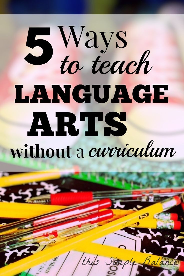 Looking for ways to make homeschooling language arts fun and casual, but still educational? Try these five ways to teach language arts (without curriculum). #homeschool #relaxedhomeschooling