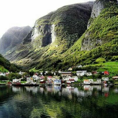 The tiny fairy-tale village of UNDREDAL, hidden in a narrow valley in the Aurlandsfjord Photo: Trine Jirdan Shared by Edith Cruz