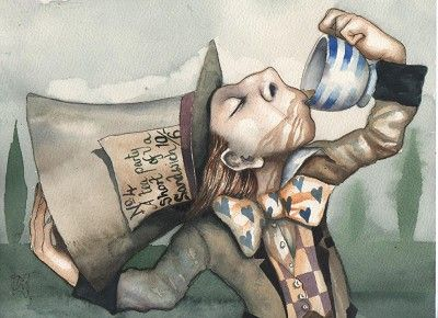 Mad Hatter - Alice In Wonderland.  pinting by Dominic Murphy