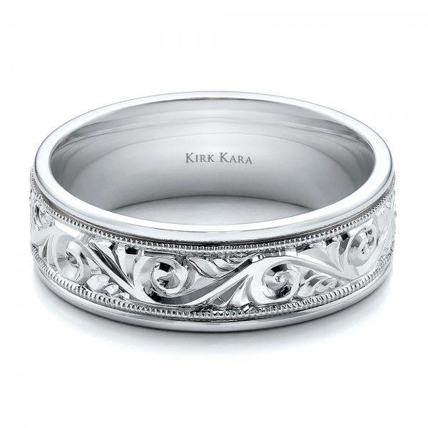 Mens Hand Engraved Wedding Band - Kirk Kara