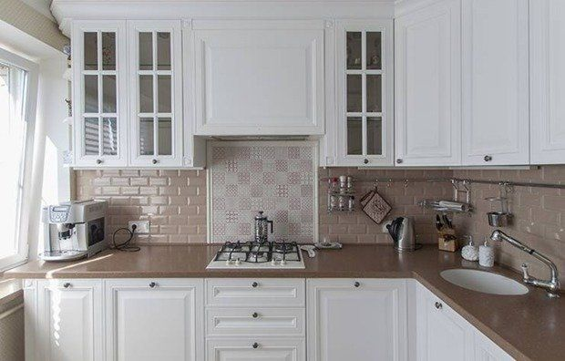 Как правильно выложить плиткой кухонный фартук   Свежие идеи дизайна интерьеров, декора, архитектуры на INMYROOM