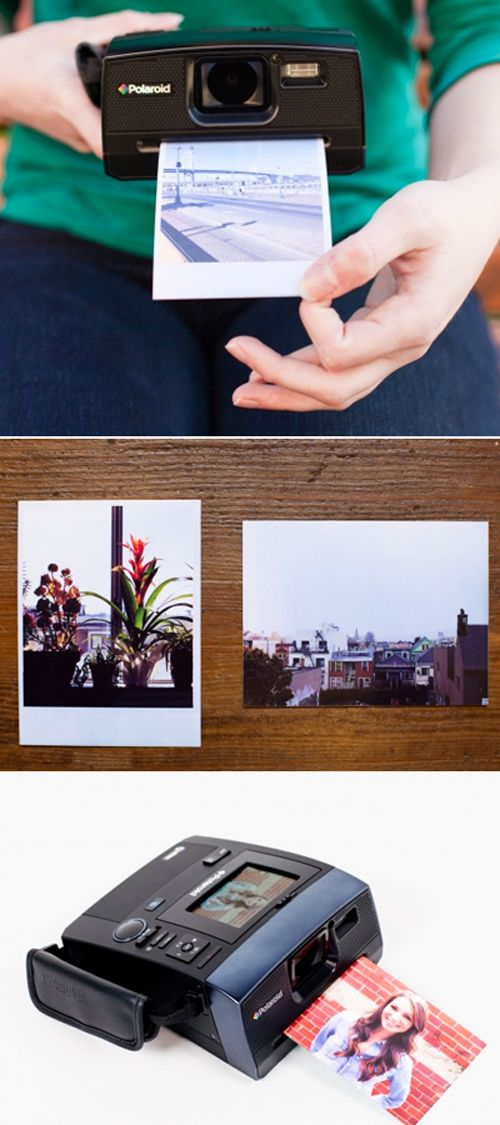 polaroid digital instant camera #gadgets #products #design. I want this in my life!