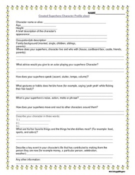 Printables Create A Worksheet 1000 ideas about create a superhero on pinterest super hero profile sheet and dialogue writing activity superheros like spiderman