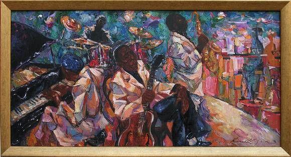 Джаз клуб. Jazz Club., автор ROMAN NOGIN. Артклуб Gallerix