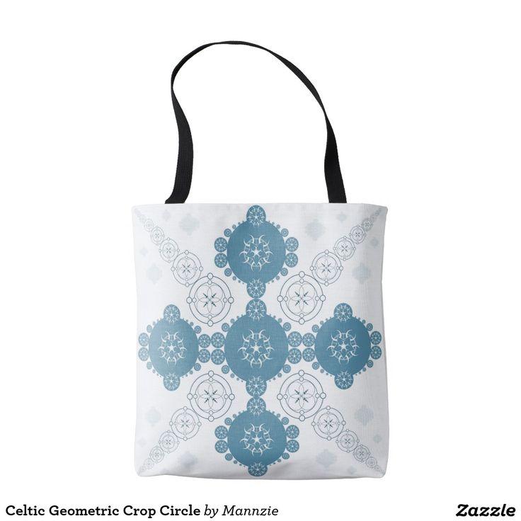 Celtic Geometric Crop Circle Tote Bag