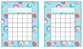 Colorful Dots Printable Incentive Charts, Desk Plates, Name tags